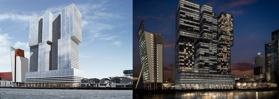 Afbeelding: De Rotterdam_by day and night_rendering_ABT_OMA_constructeur_bouwkundigpartner